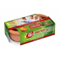 Pack 2 Velas anti-melga ZANZA TIGER ® em base de terracotta