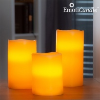 Velas LED EmotiCandle Blow Sensor (conjunto de 3)