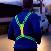 Colete reflector Led para desportistas