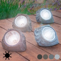 Pedra Artificial Solar (4 LED)
